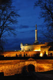 Belgrade, capital city of Serbia. The Pobednik (English: The Victor) is a monument in the Kalemegdan Fortress in Belgrade, Serbia. It is one of the most famous Stock Photos