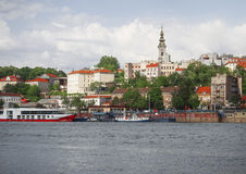 Belgrade. Capital of Serbia, is located at the confluence of the Sava and Danube Royalty Free Stock Photos