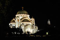 belgrade cathedral sava sveti Στοκ Εικόνες