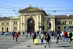 Belgrade Central Railway Station Stock Photos
