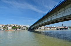 Belgrade city bridge Stock Images
