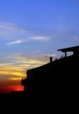belgrade city serbia sunset Стоковые Фотографии RF