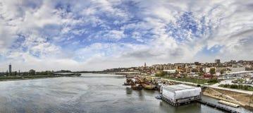 Belgrade Cloudy Panorama Stock Photo