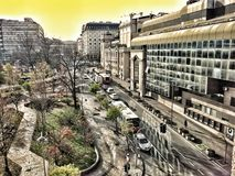 Belgrade downtown stock photos