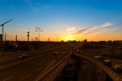 Belgrade dusk Stock Photography