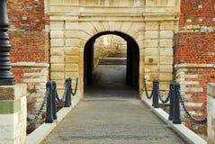 Belgrade fästningport royaltyfria bilder