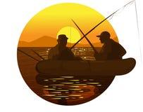 belgrade fishermen river sava sunset Ελεύθερη απεικόνιση δικαιώματος