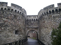Belgrade Fort. Entrance to fortifications in Belgrade Royalty Free Stock Photos