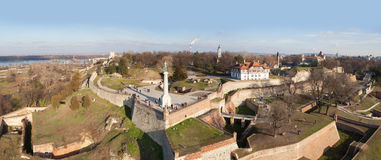 Belgrade fortress, aerial view Stock Image