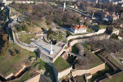 Belgrade fortress, aerial view royalty free stock images