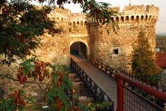 Belgrade fortress gate. Architecture details of Kalemegdan fortress in Belgrade, Zindan gate Royalty Free Stock Photo
