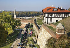belgrade fortress kalemegdan Σερβία Στοκ Φωτογραφία