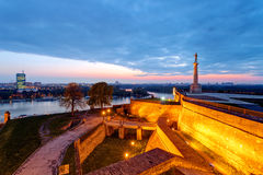 Belgrade fortress and Kalemegdan park Stock Image