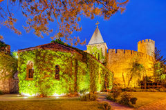 Belgrade fortress and Kalemegdan park Stock Photo