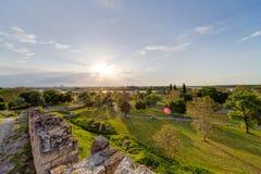 Belgrade fortress and Kalemegdan park Royalty Free Stock Images