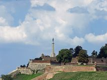 Belgrade fortress. Kalemegdan and port of Belgrade royalty free stock images