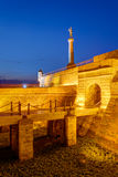Belgrade fortress and Victor monument Royalty Free Stock Image