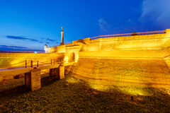 Belgrade fortress and Victor monument Stock Photography