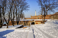 Belgrade fortress an winter Royalty Free Stock Image