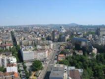 Belgrade från överkant av den BeograÄ `-ankaen arkivfoton