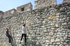 Belgrade free climbing Stock Images