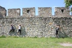 Belgrade free climbing Royalty Free Stock Photos