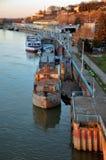 Belgrade From River Sava Stock Image