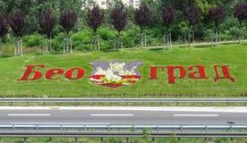 Belgrade gjorde av blommor royaltyfri fotografi