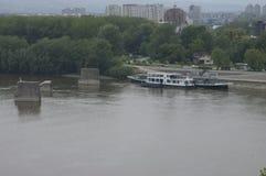 Belgrade huvudstaden av Serbien Glavni akademikra Srbije Arkivfoto