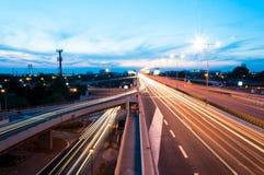 Belgrade huvudväg arkivfoto