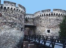 Belgrade ` Kalemegdan forteczny ` nad Sava i Danube zdjęcie royalty free
