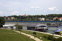 Belgrade with Kalemegdan fortress Royalty Free Stock Photography