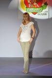 Belgrade Kids Fair 2008. Fashion show for pregnant womans Stock Photo