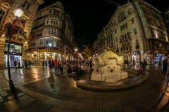 Belgrade, Knez Mihailova street at night Stock Image