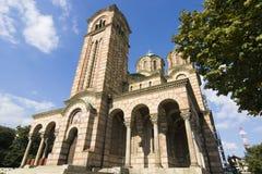 belgrade kyrklig fläckserbia st arkivfoto