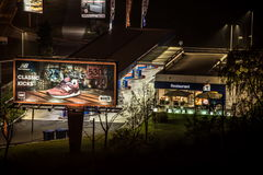 Belgrade la nuit Images libres de droits