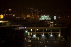 Belgrade la nuit Photographie stock libre de droits