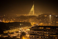 Belgrade la nuit Image stock
