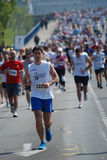 Belgrade marathnon competitor Stock Photography
