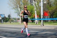 Belgrade marathnon competitor Stock Photography