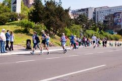 Belgrade marathon royalty free stock photos
