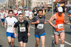 Belgrade marathon competitors Royalty Free Stock Photo