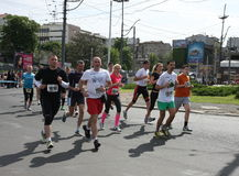 Belgrade Marathon 2014. royalty free stock photography