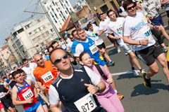 Belgrade marathon runners Stock Image