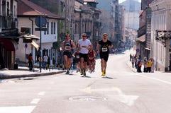 Belgrade maraton Arkivbilder