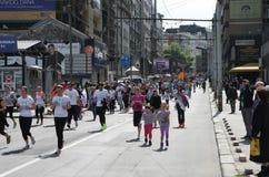 Belgrade maraton 2014 Arkivbild