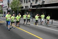 Belgrade maraton 2014 arkivfoto
