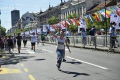 Belgrade maraton, Serbien Royaltyfri Fotografi