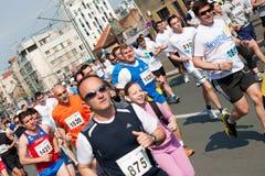belgrade maratonlöpare Fotografering för Bildbyråer