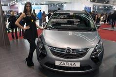 汽车Opel Zafira 免版税库存照片